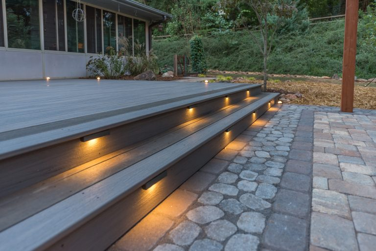 Composite Decking, Stairs, and Exterior Lighting