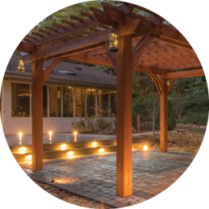 Exterior Lighting Pergola