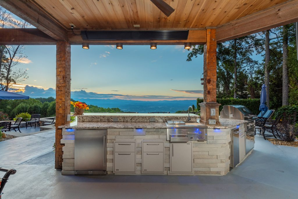 Custom Outdoor Kitchen in North Asheville (Woodfin),